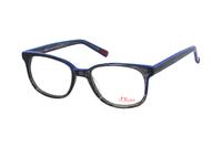 s.Oliver 93579 640 Brille in schwarz/transparent blau