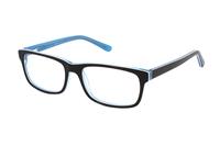 Megabrille Modell A70F Brille in braun/türkis
