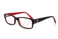 Megabrille Modell A196A Brille in schwarz/rot