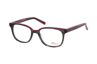 s.Oliver 93579 690 Brille in schwarz/transparent pink