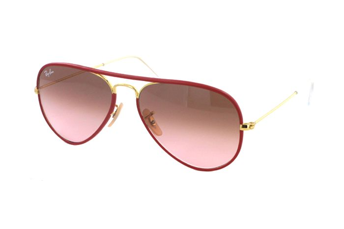 Ray-Ban Aviator Full Color RB 3025JM 172 Sonnenbrille in gold/Textil lila 55/14 lDO3KzwsyS