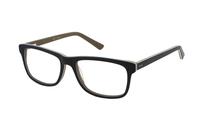 Megabrille Modell A72F Brille in schwarz/braun