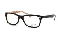 Ray-Ban RX5228 5057 Brille in top dark havana on beige text