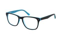 Megabrille Modell A68F Brille in schwarz/türkis
