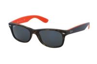 Ray-Ban New Wayfarer RB 2132 6180R5 Sonnenbrille in matte havana