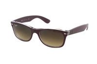 Ray-Ban New Wayfarer RB 2132 6054/85 Sonnenbrille in violett/transparent
