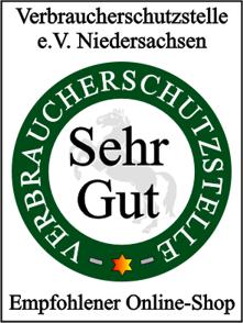megabrille.de traegt das Guetesiegel der Verbraucherschutzstelle Niedersachsen e.V