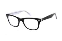Megabrille Modell A101B in Brille schwarz/weiß