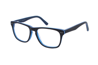 Megabrille Modell A68D Brille in blau/transparent