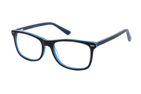 Megabrille Modell A71D Brille in blau/transparent