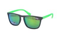 Superdry SDS Shockwave 108 Sonnenbrille in grau/neon grün