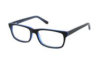 Megabrille Modell A70G Brille in schwarz/blau