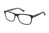 Megabrille Modell A72D Brille in schwarz/transparent