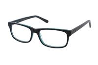 Megabrille Modell A70E Brille in schwarz/grün
