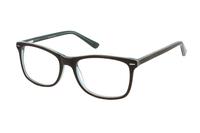 Megabrille Modell A71A Brille in braun/transparent/grün
