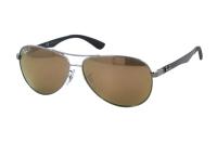 Ray-Ban Carbon Fibre RB 8313 004/N3 Sonnenbrille in shiny gunmetal