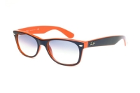 Ray-Ban New Wayfarer RB 2132 789/3F Sonnenbrille in top blue-orange