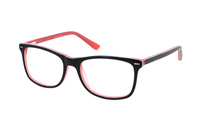 Megabrille Modell A71G Brille in schwarz/orange