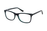 Megabrille Modell A71F Brille in schwarz/grün