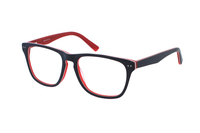 Megabrille Modell A68C Brille in blau/rot