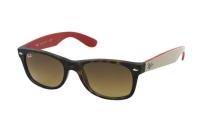 Ray-Ban New Wayfarer RB 2132 6181/85 Sonnenbrille in matte havana