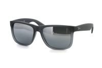 Ray-Ban Justin RB 4165 852/88 Sonnenbrille in rubber grey/grey transparent