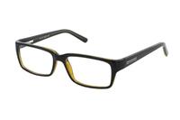 Megabrille Modell CP180B Brille in schwarz/oliv