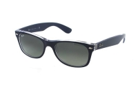 Ray-Ban New Wayfarer RB 2132 6053/71 Sonnenbrille in blau/transparent