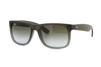 Ray-Ban Justin RB 4165 854/7Z Sonnenbrille in rubber brown on grey