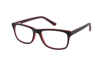 Megabrille Modell A72B Brille in braun/transparent/rot