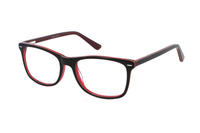 Megabrille Modell A71C Brille in braun/transparent/rot