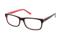 Megabrille Modell A70C Brille in schwarz/orange