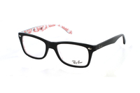 Ray-Ban RX5228 5014 Brille in top black on texture white