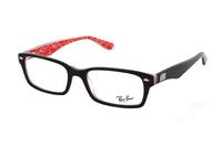 Ray-Ban RX5206 2479 Brille in schwarz/rot mit Textur