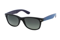 Ray-Ban New Wayfarer RB 2132 6183/71 Sonnenbrille in matte black