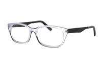 Megabrille Modell A112 Brille in transparent/schwarz