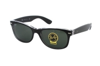 Ray-Ban New Wayfarer RB 2132 6052 Sonnenbrille in schwarz/transparent
