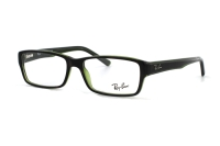 Ray-Ban RX5169 2383 Brille in top havana on green transparent