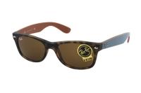 Ray-Ban New Wayfarer RB 2132 6179 Sonnenbrille in matte havana