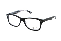 Ray-Ban RX5228 5405 Brille in top mat black on tex camuflage